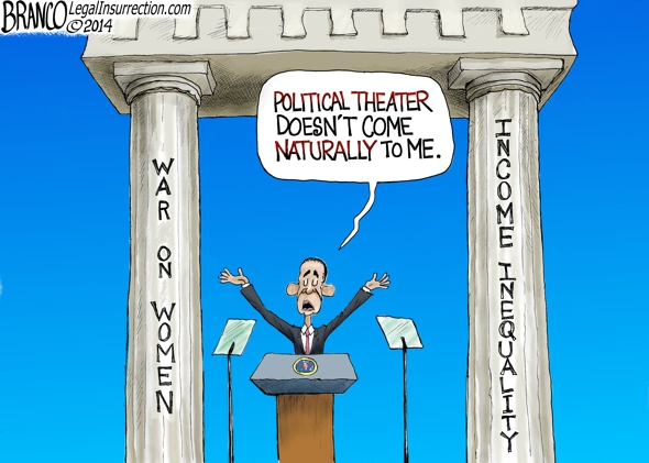 Political Theater Cartoon
