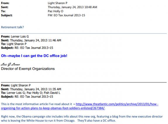 Lerner email Organizing for Action
