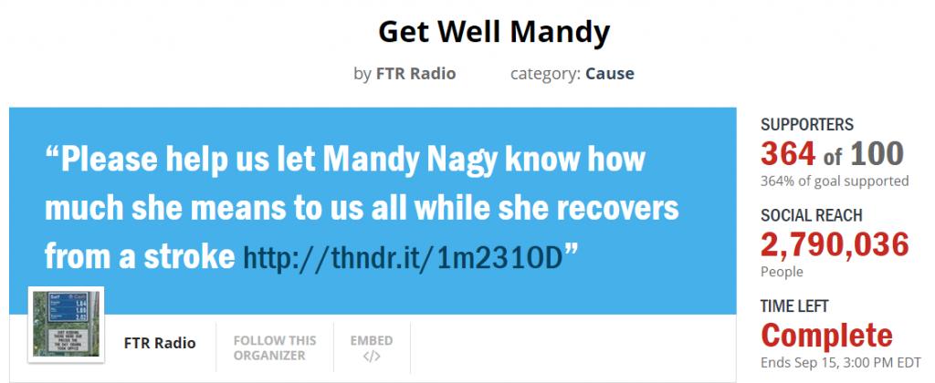 Mandy Thunderclap final count