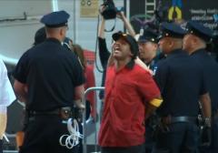 fast food strike arrest