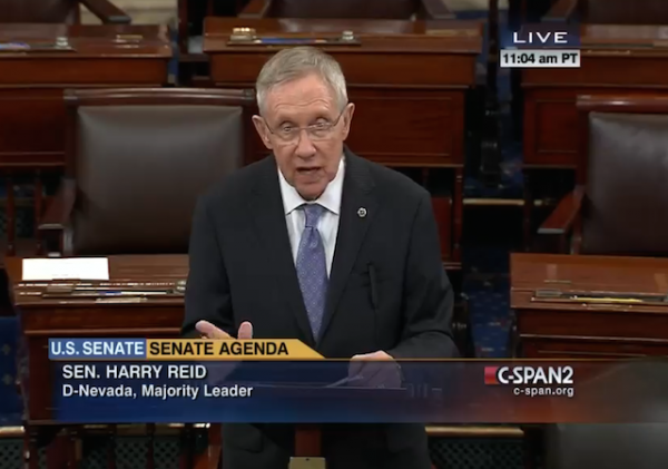 harry reid senate floor
