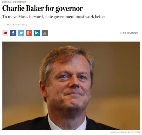 Boston Globe Endorsement Charlie Baker