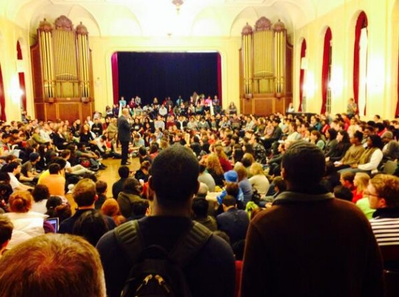 (Forum at Brown University on October 30, 2013, regarding shout down of Ray Kelly)