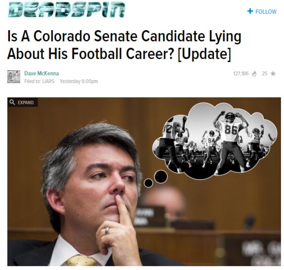 Deadspin Cory Gardner Lying Football