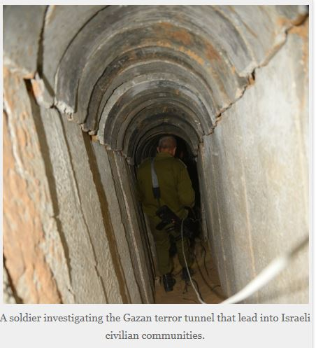 IDF Blog Gaza Tunnel