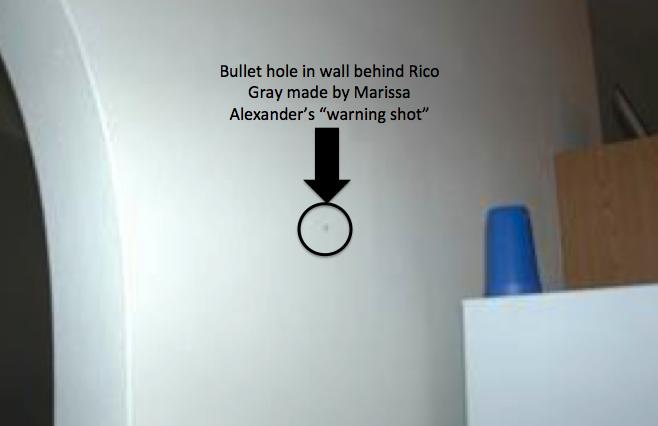 Marissa Alexander bullet hole