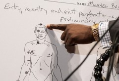 Michael Brown Autopsy Sketch Ferguson