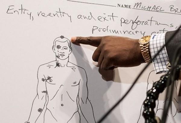 Michael Brown Autopsy Sketch Ferguson