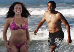 Obama Girl water