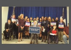 Wendy Davis wheelchair rally w border