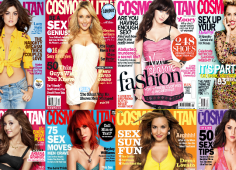 cosmopolitan cover collage