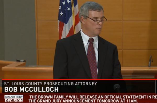 Bob McCulloch Prosecutor Ferguson Michael Brown small