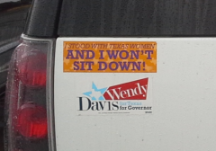 Bumper Sticker - Southlake Texas - Sit Down Wendy Davis