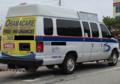 Bumper Stickers - Miami - Free Obamacare Van