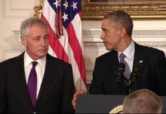 Obama Hagel Resignation Announcement 2