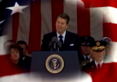 Ronald Reagan Veteran's Day 1985