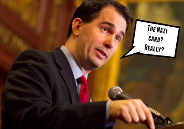 Scott Walker Mary Burke Swastika Ad Wisconsin Governor Wisconsin Union