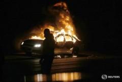 ferguson burning car CREDIT REUTERS