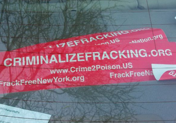 Bumper Sticker Ban Fracking