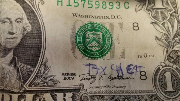Dollar Bill Tax Cheat timothy geithner