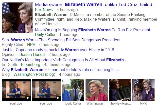 Elizabeth Warren Google News Search 12-15-2014