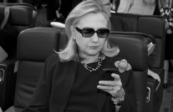 Hillary Clinton Sunglasses Phone Twitter Profile