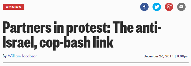 NY Post Partners in protest The ant-Israel cop-bash link