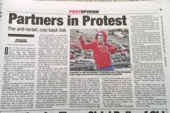 NY Post Print Edition Partners in protest