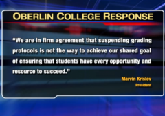 Oberlin College Refused to cancel finals for students Mike Brown Ferguson