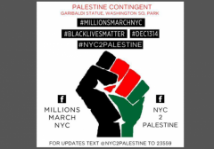 Palestine Contingent Millions March NYC2Palestine w border