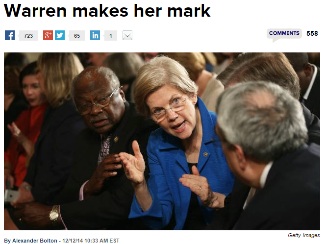 The Hill Elizabeth Warren Makes Her Mark