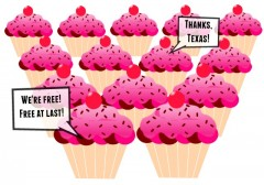 Amnesty for all the cupcakes! Sweet, sweet Freedom Texas Sid Miller School Lunch