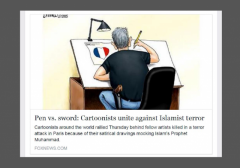 Branco Cartoon Charlie Hebdo FoxNews w border