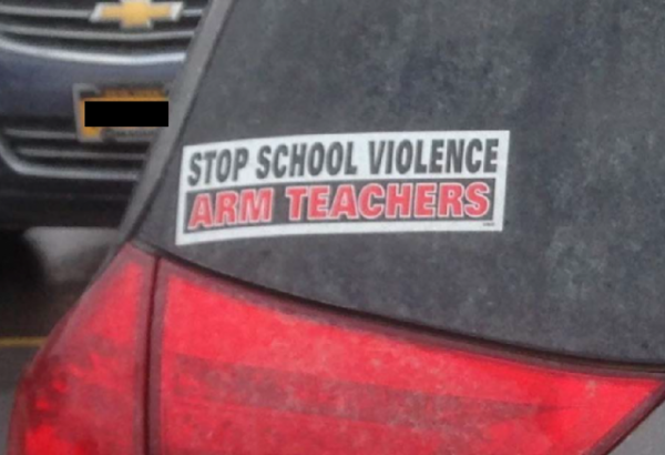 Bumper Sticker - Ithaca - Stop School Violence Arm Teachers