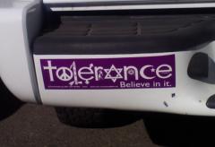 Bumper Stickers - Roswell NM - Tolerance