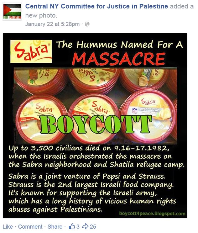 CNY Committee Sabra Hummus Named Massacre