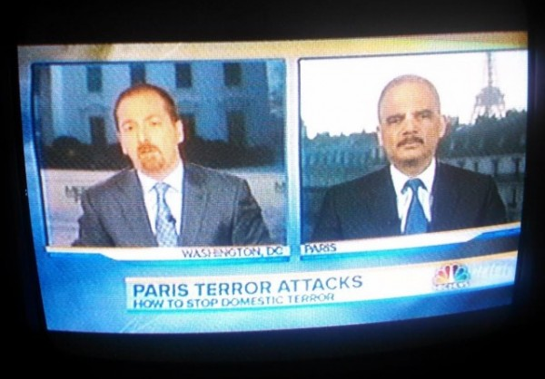 Eric Holder Meet the Press Paris 2