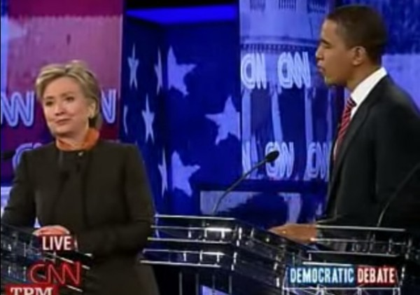 Hillary and Obama debate 2008