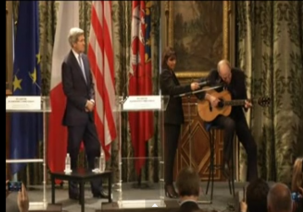 John Kerry takes James Taylor to France Marry McGuire Charlie Hebdo