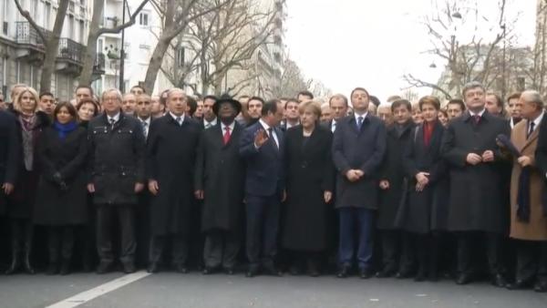 Paris National Unity Rally International Leaders
