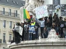 Paris National Unity Rally Israeli flag