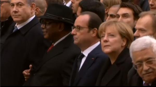 Paris National Unity Rally Netanyahu Abbas