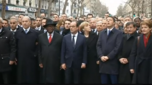 Paris National Unity Rally Netanyahu others