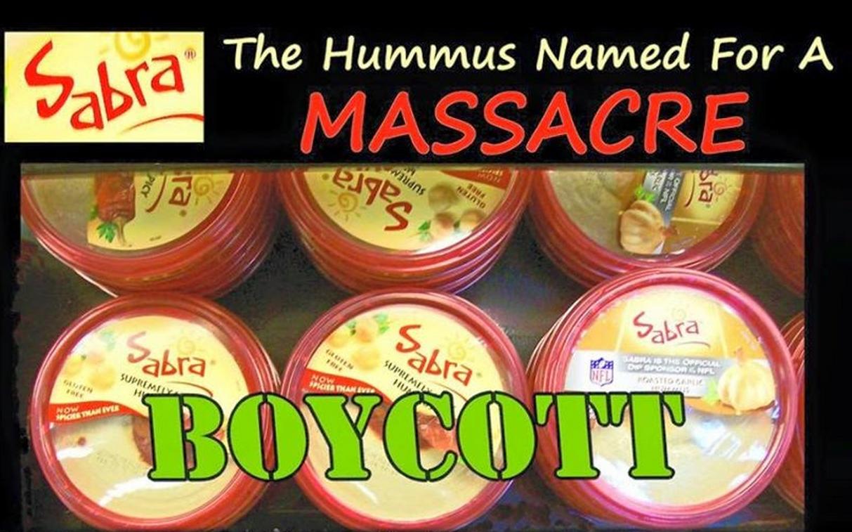 Sabra Boycott Poster top half