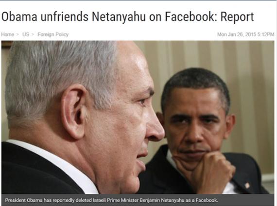 iran obama netanyahu unfriend