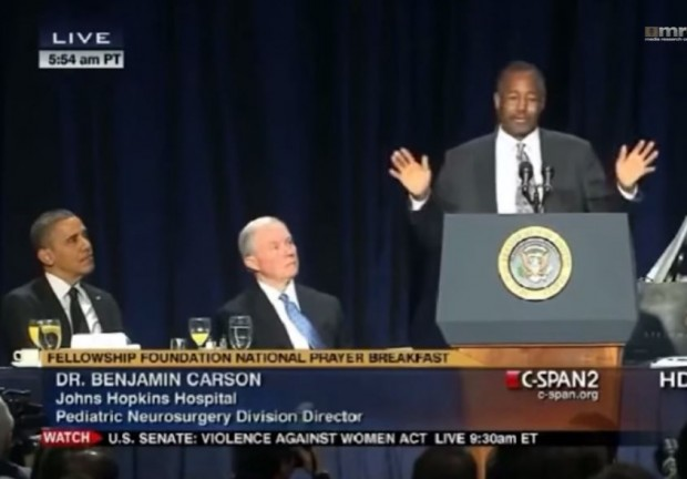 Benjamin Carson at National Prayer Breakfast Obama