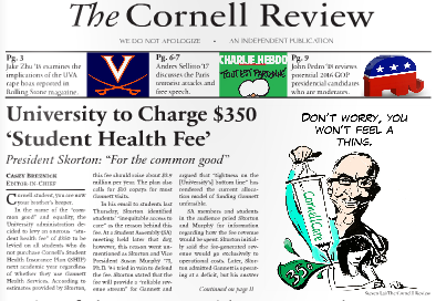 Drawing by Steven Lai of The Cornell Review.