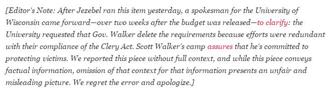 Jezebel Scott Walker Sexual Assault Reporting Update 2