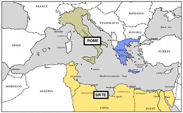 LI Libya area map