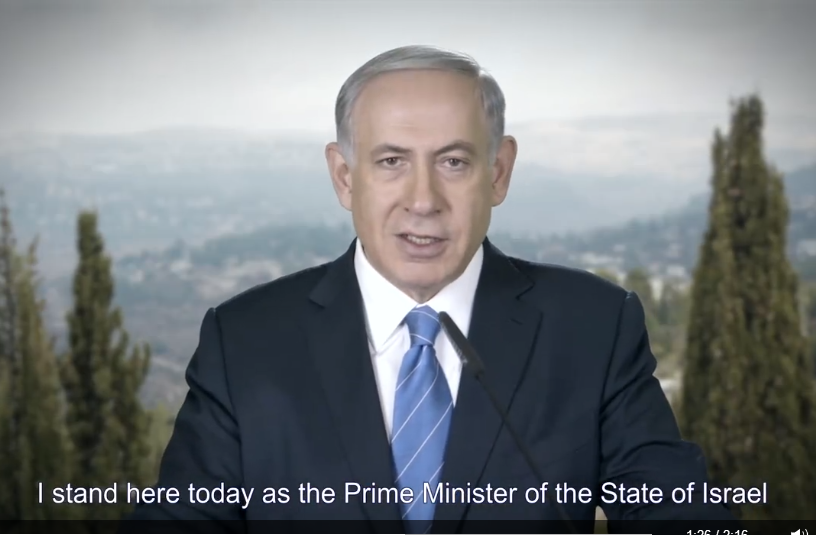 Netanyahu stand here today as Prime Minister